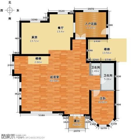 晟煜东湖湾1室0厅2卫0厨161.00㎡户型图