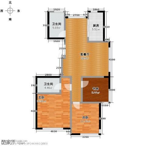 红苹果3室1厅2卫1厨115.00㎡户型图