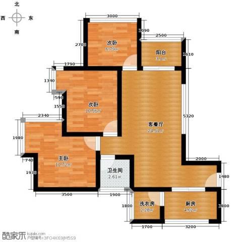 兴隆城市广场3室1厅1卫1厨98.00㎡户型图