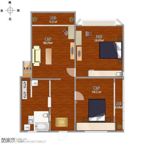 东方豪园3室2厅2卫1厨112.00㎡户型图