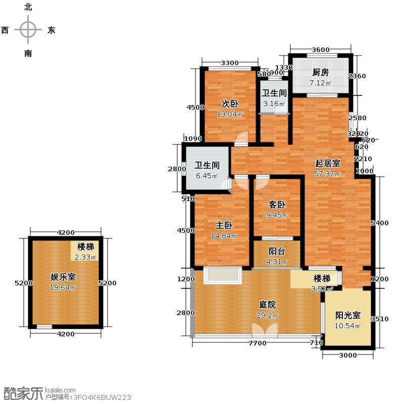 豪门府邸150.89㎡10#A一层户型3室2卫1厨