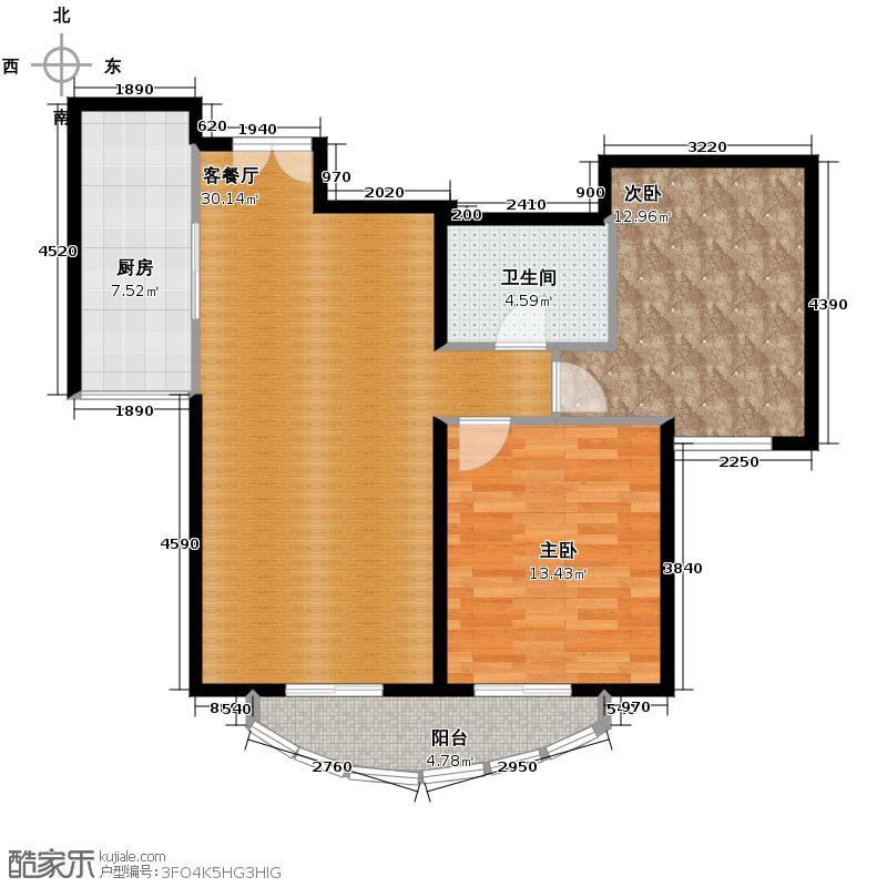 东湖湾108.32㎡301-3-2户型10室