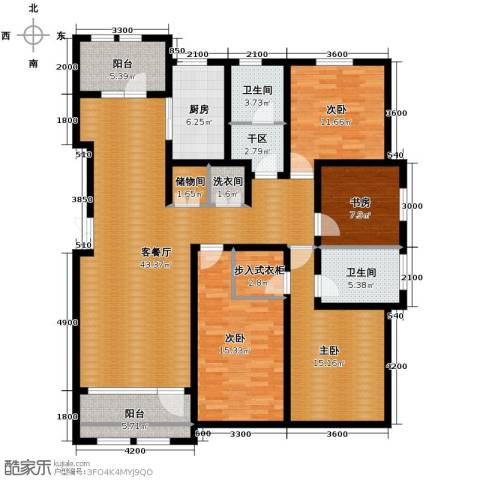 群力玫瑰湾4室1厅2卫1厨128.73㎡户型图