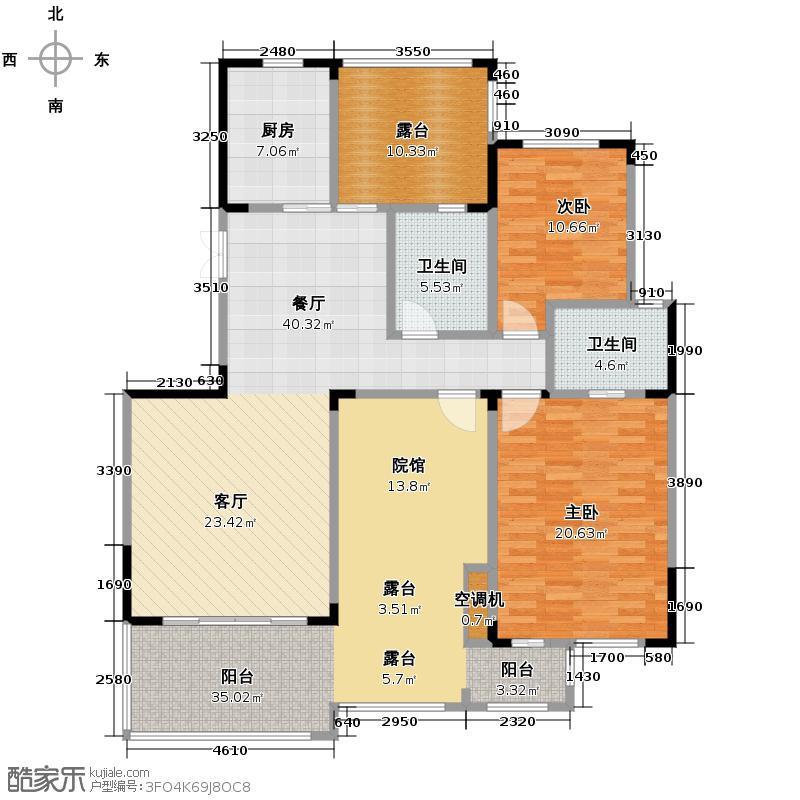 香博城108.95㎡A3户型3室2厅2卫