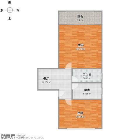 泗塘五村2室1厅1卫1厨107.00㎡户型图