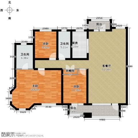 华润橡树湾3室2厅2卫0厨168.00㎡户型图