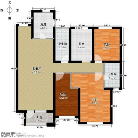 华润橡树湾3室2厅2卫0厨140.00㎡户型图