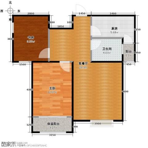 卓达・太阳城2室2厅1卫0厨74.00㎡户型图