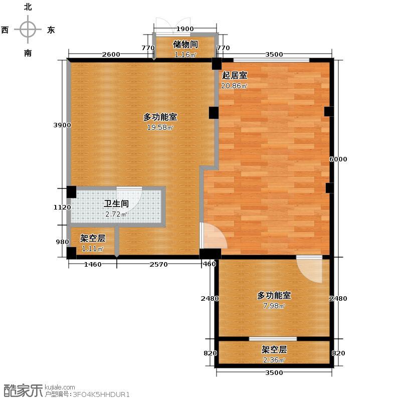 大唐壹号领馆61.01㎡11/12号楼04半地下层户型10室