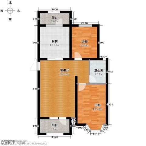 宝境栖园2室2厅1卫0厨90.00㎡户型图
