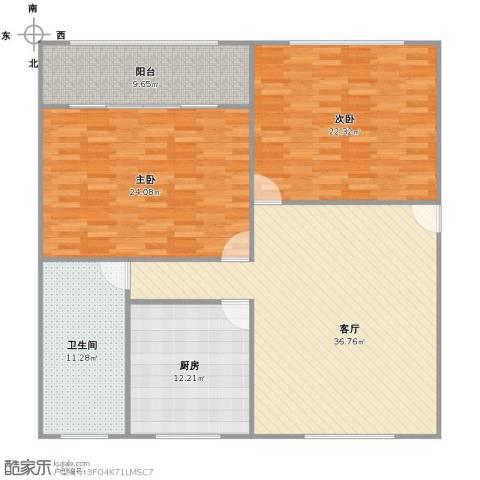潼港三村2室1厅1卫1厨154.00㎡户型图