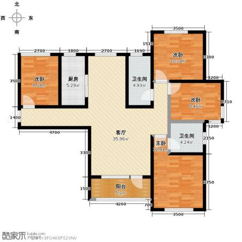 平谷蓝熙庭4室2厅2卫0厨123.00㎡户型图