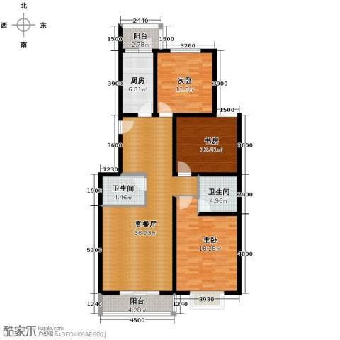 晋水上3室2厅2卫0厨141.00㎡户型图