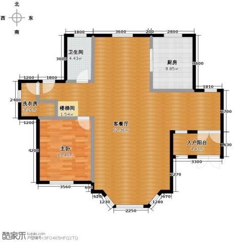 团泊湖庭院134.00㎡户型图