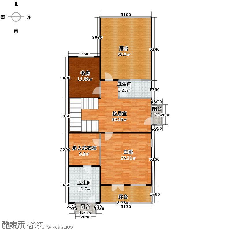 贻成水木清华144.04㎡别墅三期TH4二层户型10室