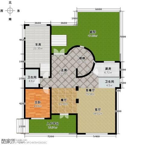 团泊湖庭院257.00㎡户型图