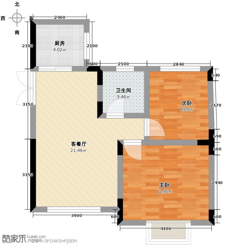 逸品森香96.00㎡A型双卫下户型3室2厅2卫