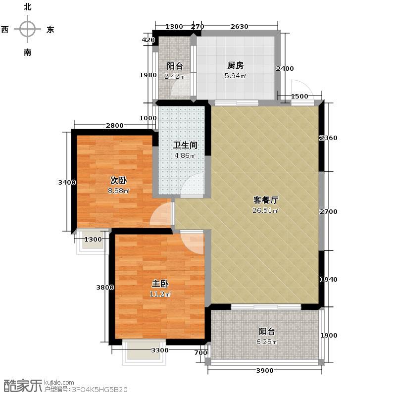 中铁丽景书香88.77㎡A3户型10室