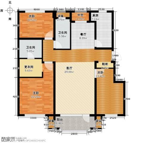 新湖青蓝国际3室2厅2卫0厨142.00㎡户型图