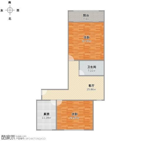 兴浦新村2室1厅1卫1厨134.00㎡户型图