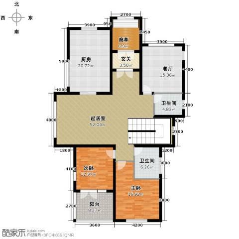 康城暖山2室1厅2卫1厨207.00㎡户型图