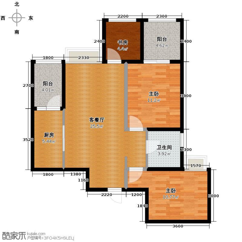 中国水电云立方79.29㎡户型10室