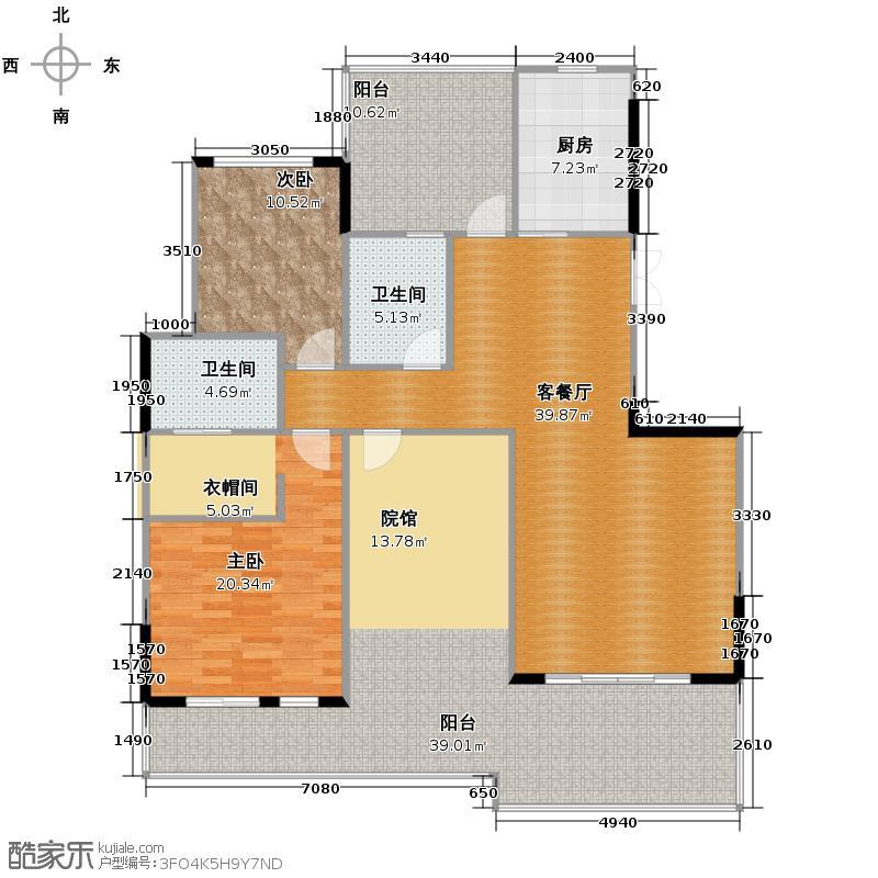 香博城131.86㎡A1-2户型3室2厅2卫