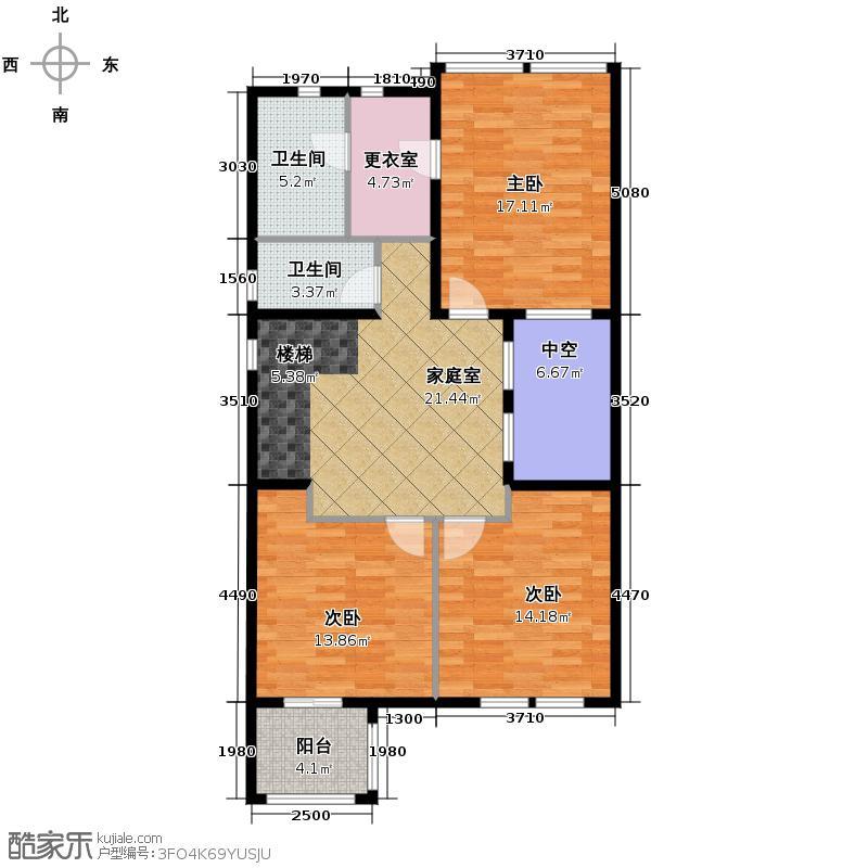 上邦高尔夫国际社区245.00㎡B2-2联排别墅户型10室