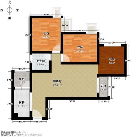 兴隆城市广场2室1厅1卫1厨88.00㎡户型图