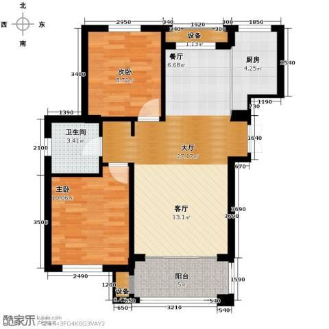 朗庭山2室2厅1卫0厨86.00㎡户型图