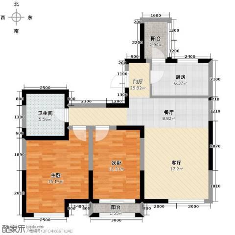 格调艺术领地2室2厅1卫0厨104.00㎡户型图