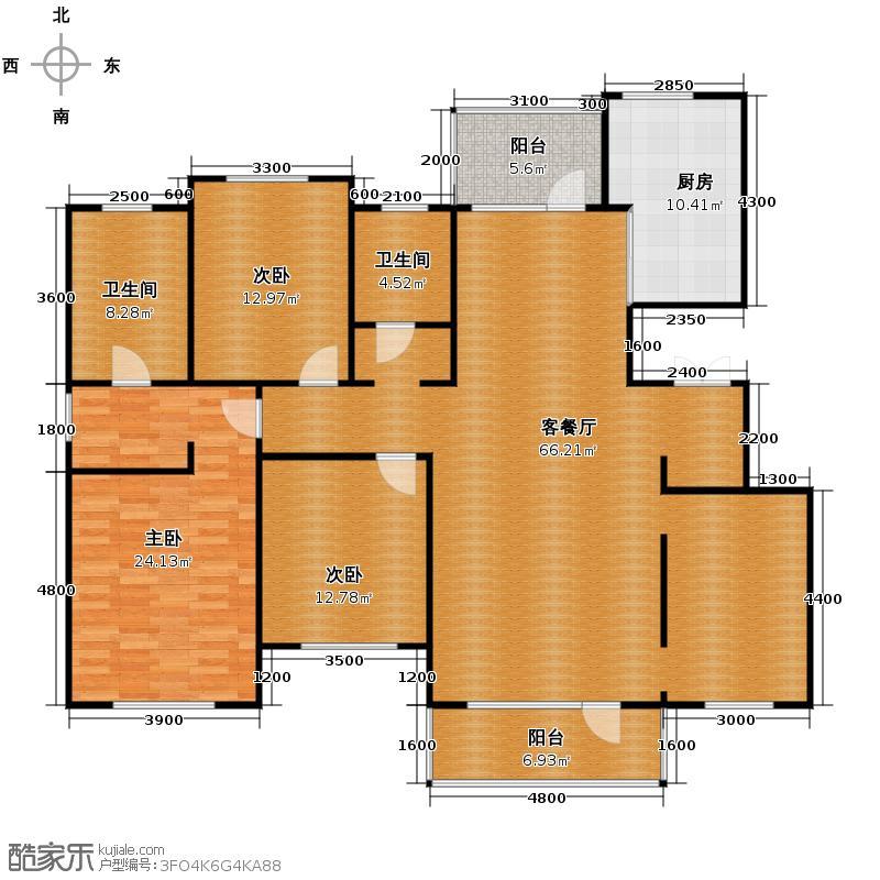 富海澜湾半岛176.56㎡央墅W4四层户型10室
