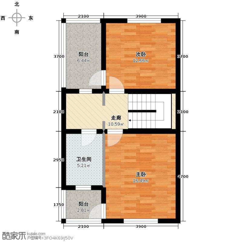 天鹅堡229.00㎡J3二层户型10室