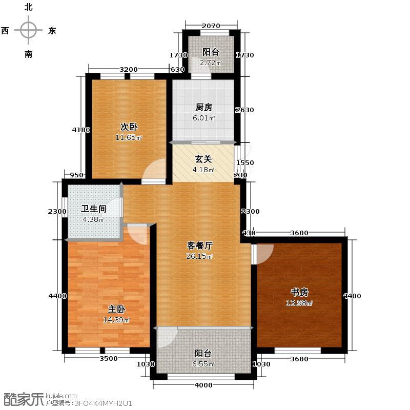群力玫瑰湾76.63㎡G04-G06D户型3室1厅1卫1厨