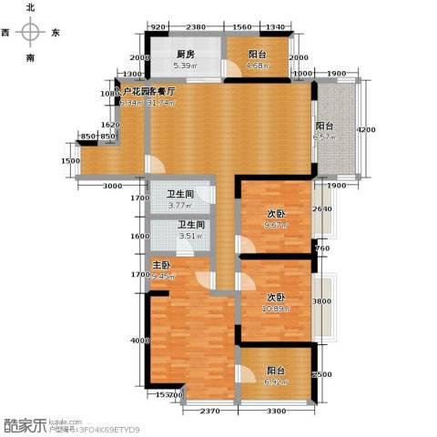 航天城上城3室2厅2卫0厨135.00㎡户型图