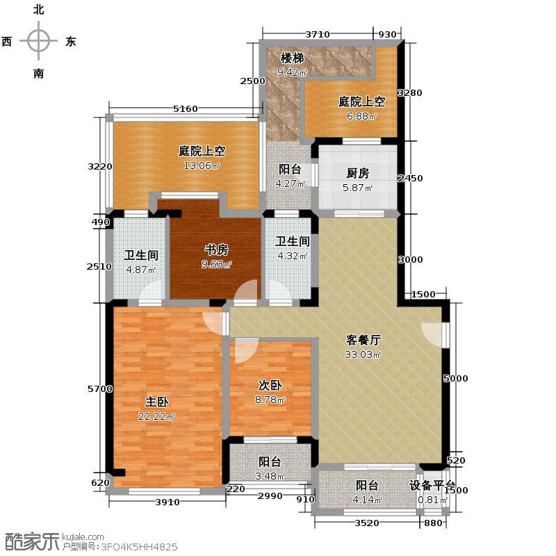 同景国际城146.43㎡E2F户型10室