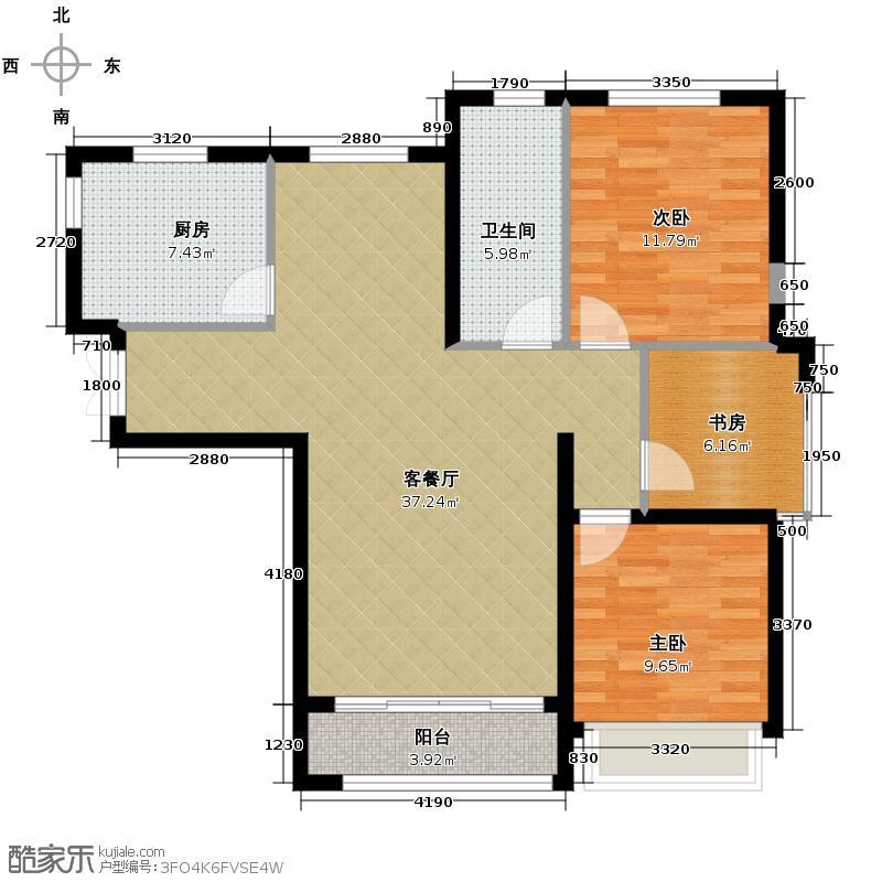 海天新界92.75㎡户型3室1厅1卫1厨