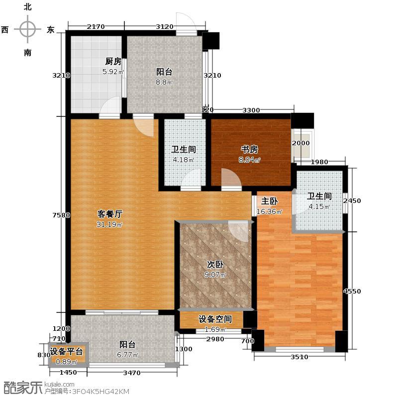 龙湖弗莱明戈110.31㎡户型3室1厅2卫1厨