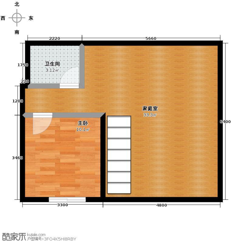 曲院风荷105.00㎡M22829号楼顶层户型1室1厅1卫