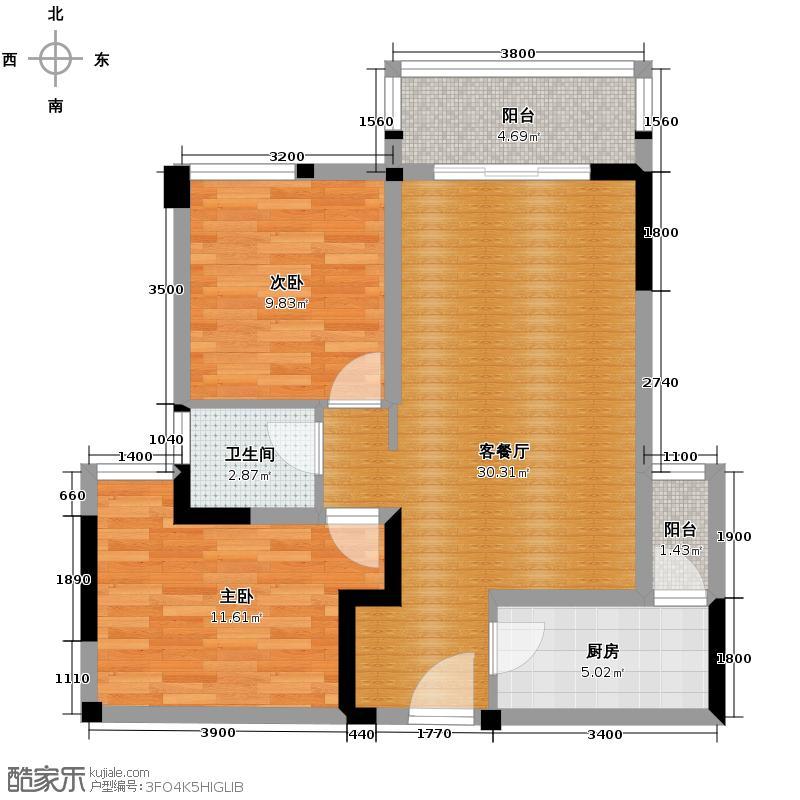 中铁塔米亚74.00㎡A1单卫户型10室