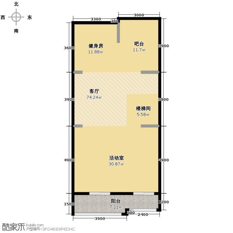 首创国际半岛285.00㎡H1-b地下一层户型10室