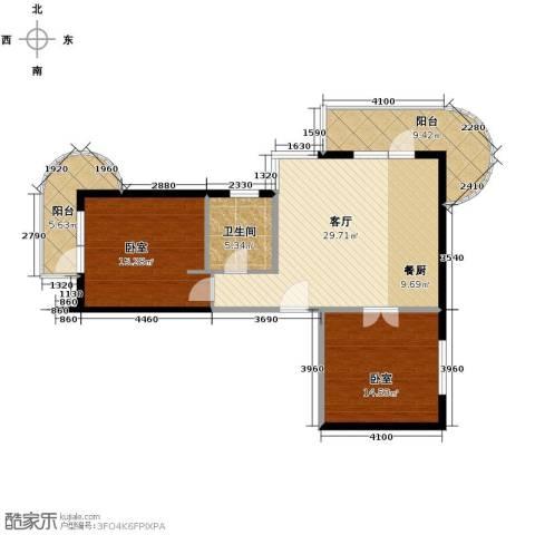 山海同湾2室2厅1卫0厨102.00㎡户型图