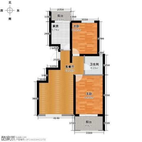 宝境栖园2室2厅1卫0厨92.00㎡户型图