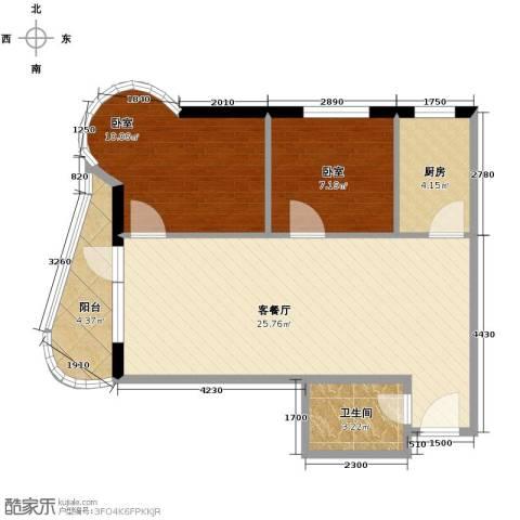 山海同湾2室2厅1卫0厨73.00㎡户型图
