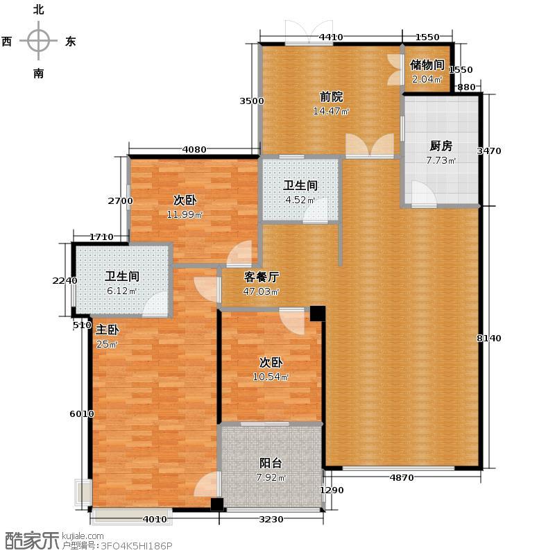 华置西锦城146.74㎡户型10室
