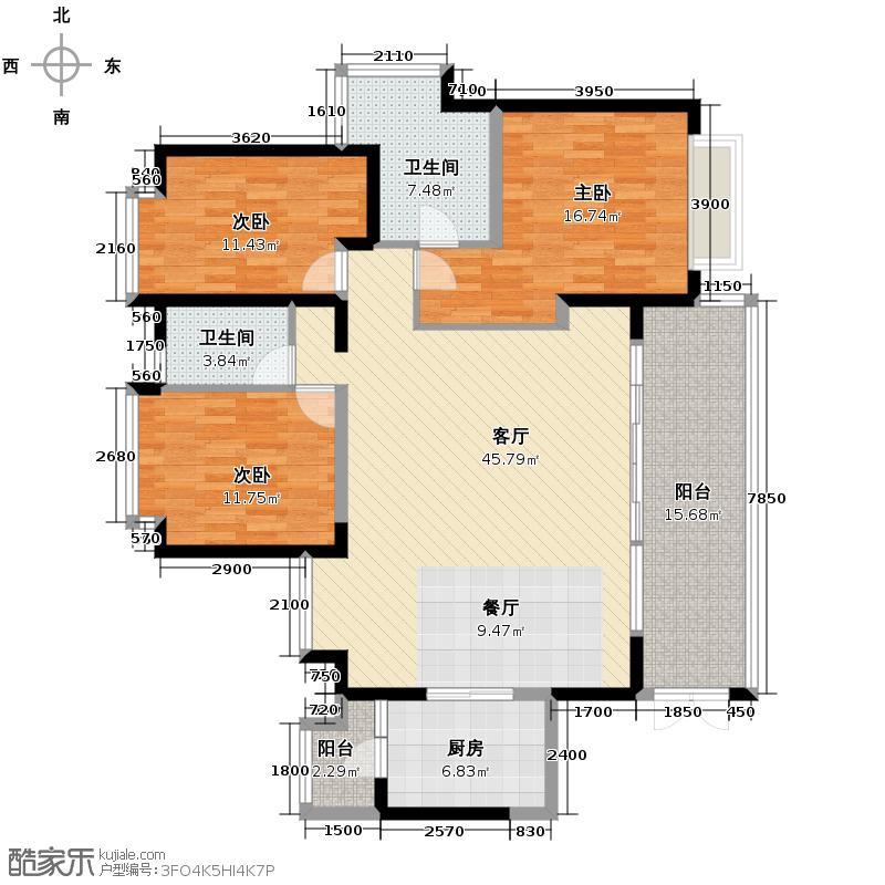 仁和春天国际花园145.25㎡B2双卫户型10室
