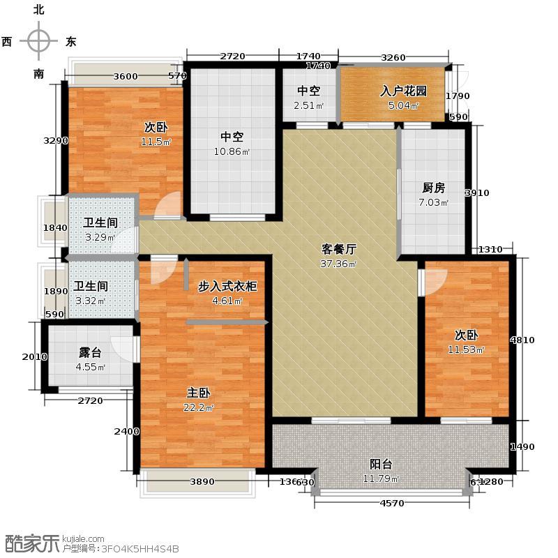 协信城立方152.00㎡洋房4层G户型3室1厅2卫1厨