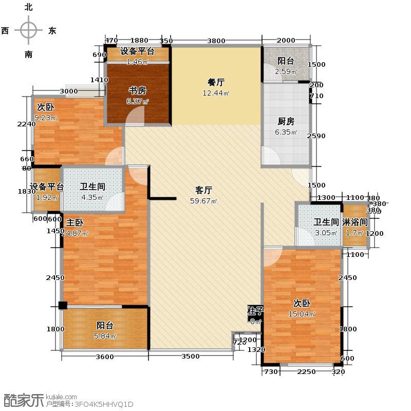 中信新城a1+a2建筑面积约14266m2户型10室