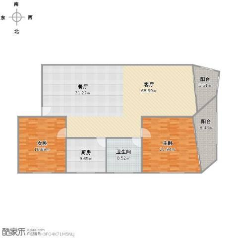 冠华大楼2室1厅1卫1厨149.03㎡户型图