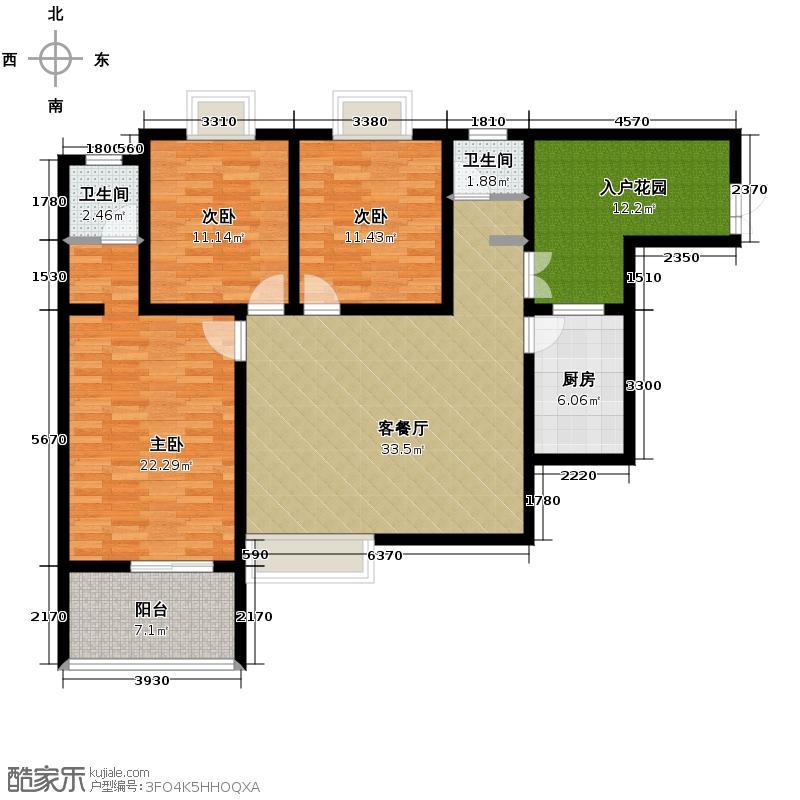 龙城铭园国际社区141.50㎡I2户型10室